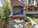 Beton Barbekü - Şömine - Yandan Bacalı